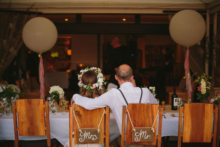 Our Mr & Mrs timber signs are available for hire. Photo by David Campbell Imagery