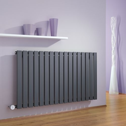 The Milano Alpha anthracite electric designer radiator will add contemporary style to your home