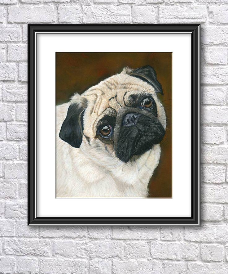 Original Pug Painting in Pastel, Original Dog Painting, Original Pet Portrait, Pastel Dog Portrait, Pastel Pug Art, Pug Painting, Animal Art by SBsPrintables on Etsy