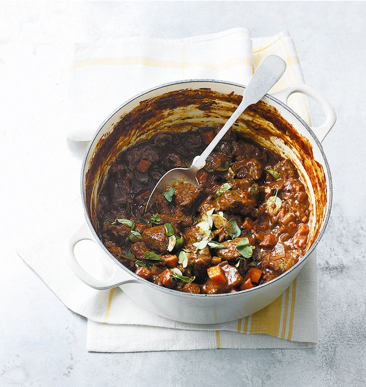 Everyone needs a basic beef casserole recipe – this stew, enriched by red wine, is just perfect to have in your recipe repertoire.