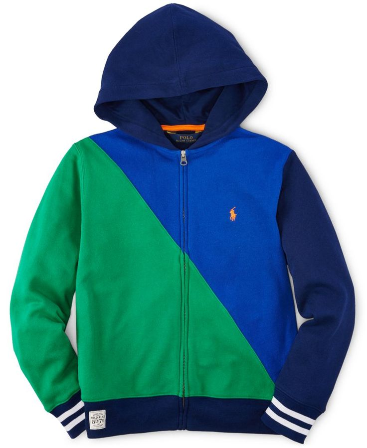 Ralph Lauren Boys' Colorblocked French Terry Hoodie