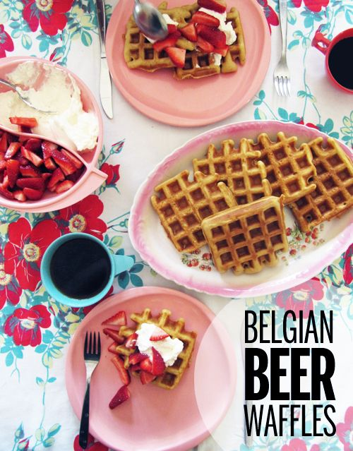 Belgian Beer Waffles are my fave I used to make these when my children were small. I make the batter the night before because I think that it sky-rockets the taste to new heights!