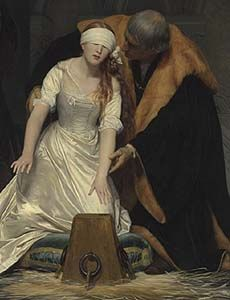 The Execution of Lady Jane Grey (detail) by Paul Delaroche, 1833