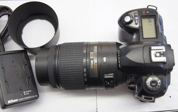 Nikon D70 Digital Camera with Nikon DX 55-300mm 4.5-5.6 G ED Lens #Nikon