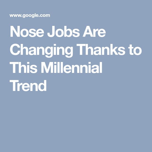 Nose Jobs Are Changing Thanks to This Millennial Trend