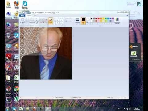 Как изменить размер фото с помощью программы Paint - YouTube