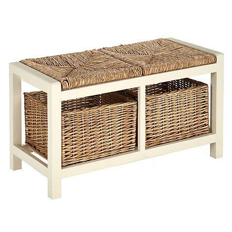 Buy Garden Trading Storage Seat, Chalk Online at johnlewis.com