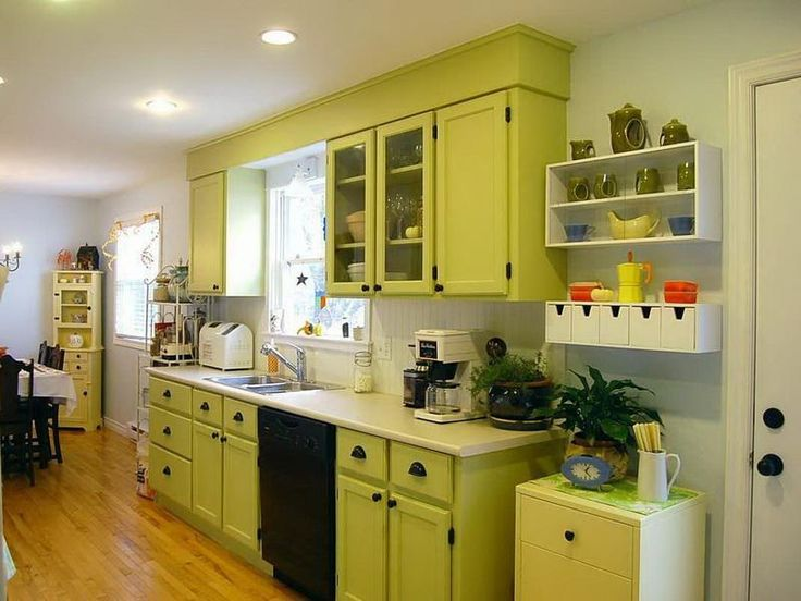 Green Painted Kitchen Cabinets 89 best painting kitchen cabinets images on pinterest | kitchen