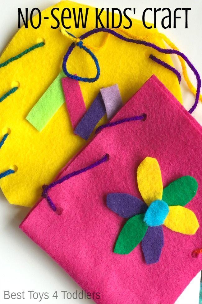 No Sew Kid Created Purse Craft