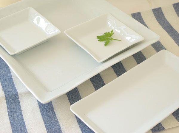 クリアホワイト  スクエア組皿セット  (STUDIO BASIC) /白い食器/四角のお皿/ホテル食器/高品質/ギフト/カフェ/ランチプレート/ 食器、キッチン雑貨の通販。おしゃれでかわい食器ならテーブルウェアイースト