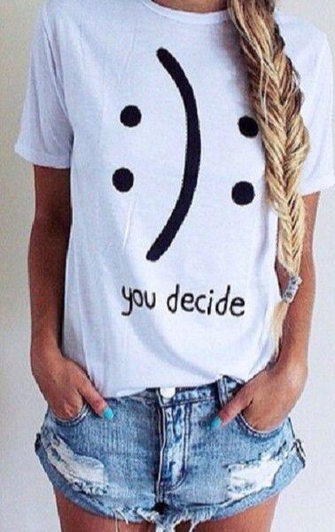 You decide happy or sad smiley tshirt