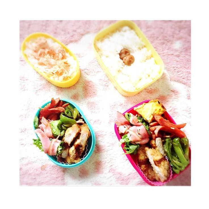 いいね!7件、コメント3件 ― @mymzctaのInstagramアカウント: 「✩⋆*✦ 今日のお弁当 ✩⋆*✦ . . 卵焼き・ウインナー・トンカツ・ベーコンのレタス巻き・ピーマン&ハム炒め・鮭 . #お弁当 #昼食 #lunch #kids #20160801 #」