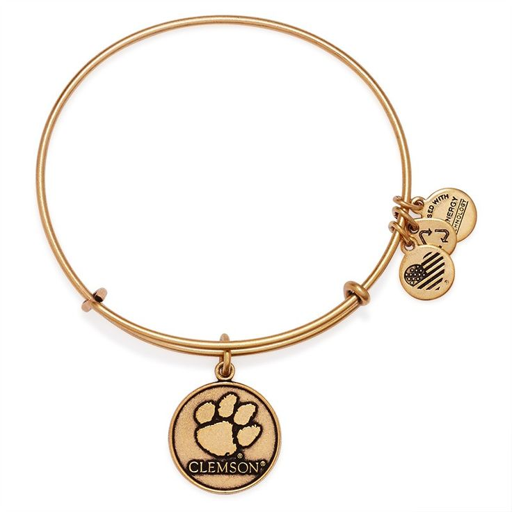 $32 Clemson University Logo Charm Bangle | Alex and Ani