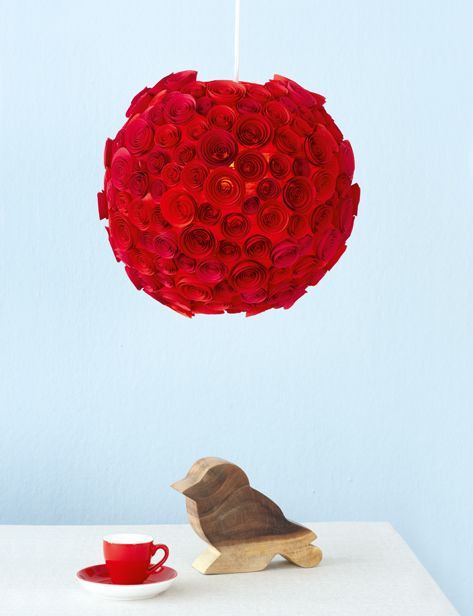 Paper Rose Lampshade Handmade And Hot Lamp Shade Crafts Light