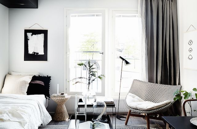 A Beautiful And Smart Tiny One Room Flat In Finland | my scandinavian home | Bloglovin'