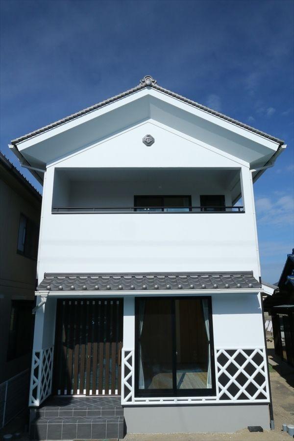 The Kura 蔵 香川で自然素材の木の家 注文住宅を建てる大河内工務店 家 なまこ壁 家 外観