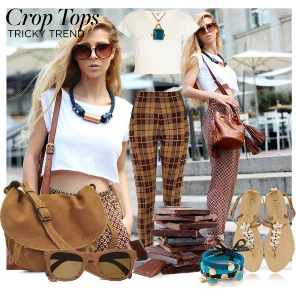 """""""crop tops - tricky trend"""" by inculori on Polyvore"""