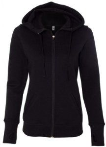 Image of Yoga Clothing For You Ladies Performance Full-Zip Hoodie, Medium Black
