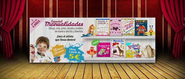 Diseño de banner libros manualidades para niños | Dolphin Tecnologías