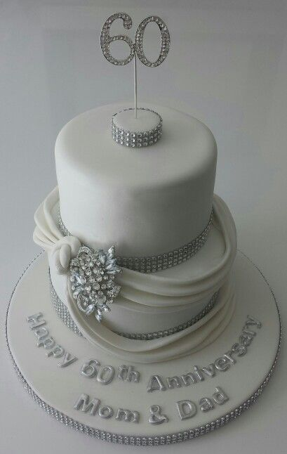 Cake Decorations For Diamond Wedding Anniversary : 26 best images about Diamond wedding cake on Pinterest ...