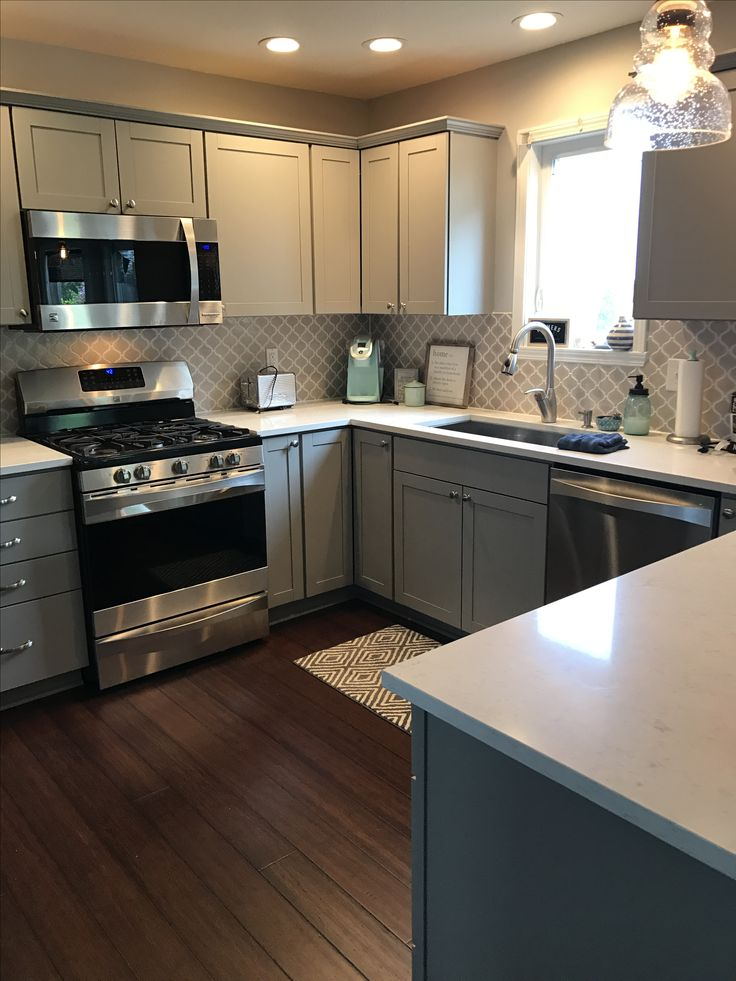 Our New Kitchen Stone Gray Aristokraft Cabinets Brave