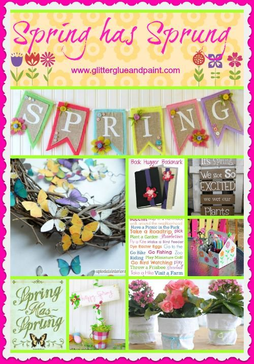 Spring has Sprung Round up - Glitter Glue & Paint