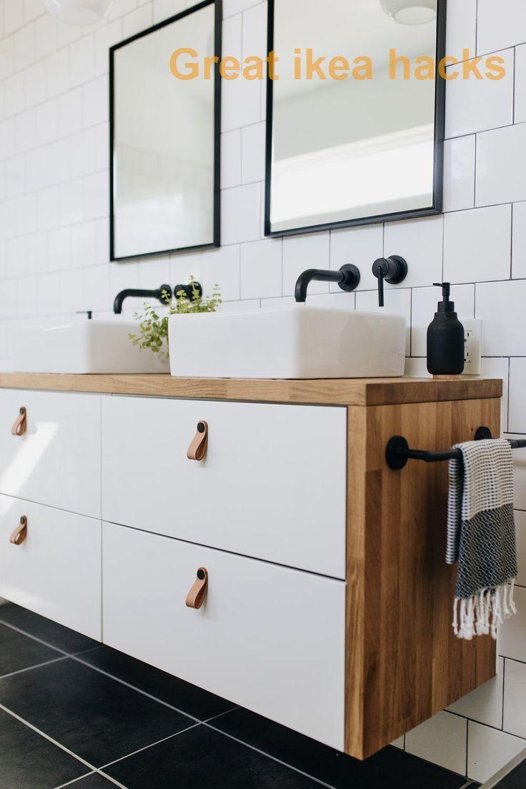 Great Ikea Hacks Ideas Designs In 2020 Ikea Hack Bathroom Ikea Bathroom Vanity Small Bathroom Diy