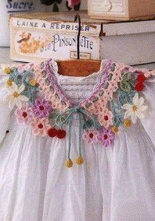 Tina's handicraft : crochet  Collar with flowers
