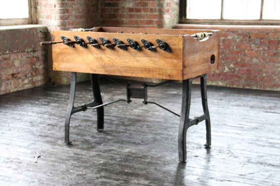 Industrial Vintage Football Table by Wheresaintsgo on Etsy