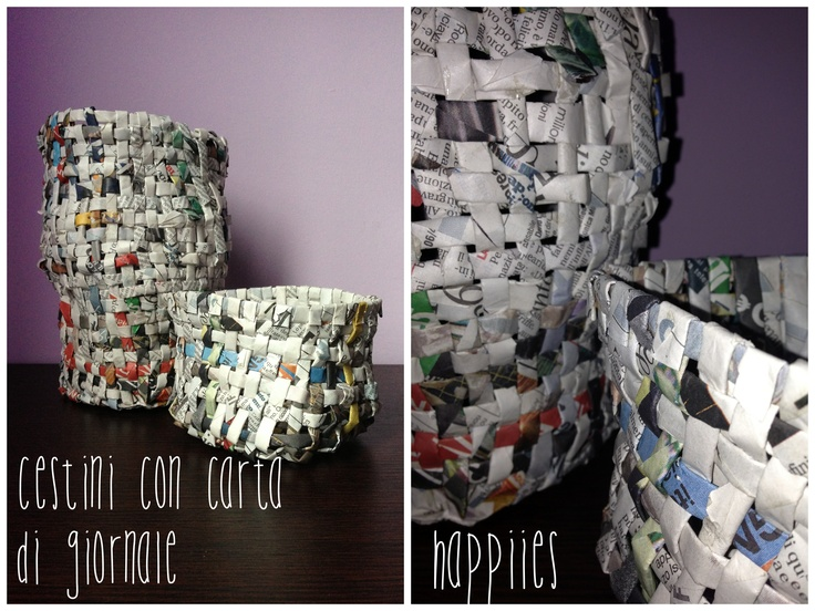 [DIY] I cestini con carta di giornale riciclata