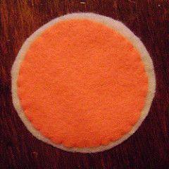 felt orange circles