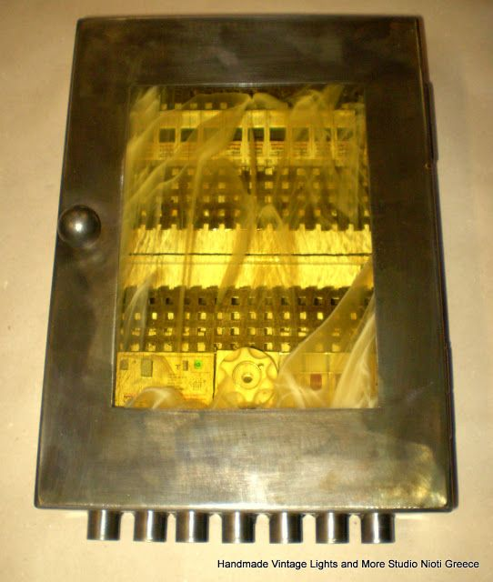 STUDIO NIOTIS: Vintage industrial . Ηλεκτρολογικός μεταλλικός πίν...