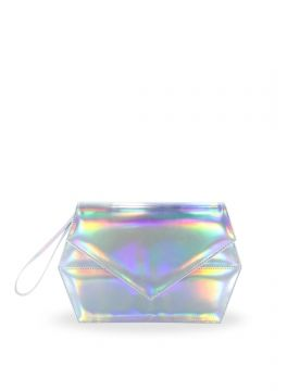 Future trend for clutch. HOLOGRAM. Zorra Hologramz Clutch Bag Silver Rp 169.000,-