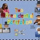 Students can research and compare the contributions of  two Presidents or reflect on their own goals and qualifications comparing them to a U.S. President inside a silhouette project pouch.