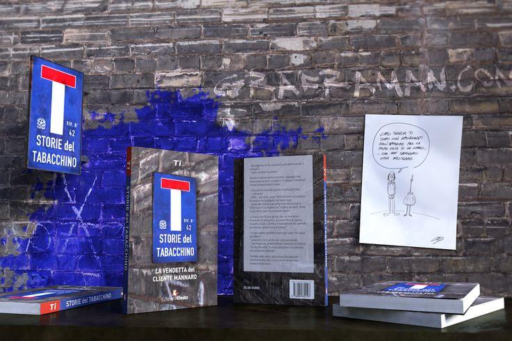 """Ho curato l'impaginazione e la grafica per il libro """"Storie del tabacchino. La vendetta del cliente mannaro."""" di Ti, per Edizioni Efesto. Ho realizzato, inoltre, l'immagine di copertina, su un concept dell'autore."""
