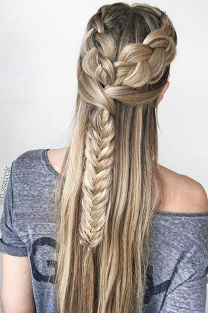 Phenomenal 1000 Ideas About Fishbone Braid On Pinterest Heart Hair Heart Short Hairstyles Gunalazisus