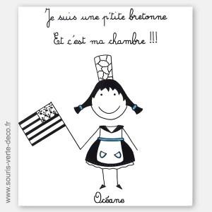 Plaque de porte Petite Bretonne avec prénom, peinte à la main et personnalisable http://www.souris-verte-deco.fr/Boutique/plaques-portes-prenom-chambre-fille-decoration/163-plaque-porte-petite-bretonne-deco-chambre-enfant.html