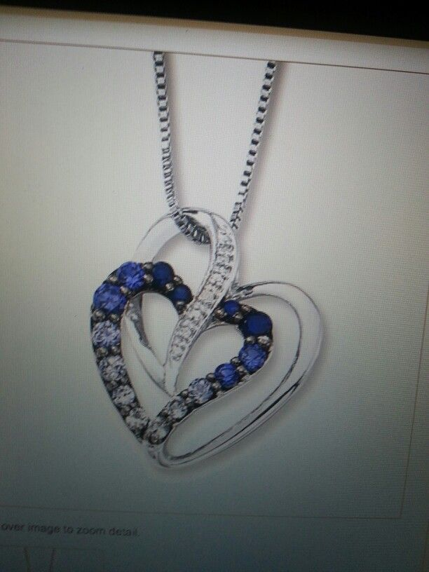 Kays jewler heart neclace lab created sapphire diamond! WANNNTT