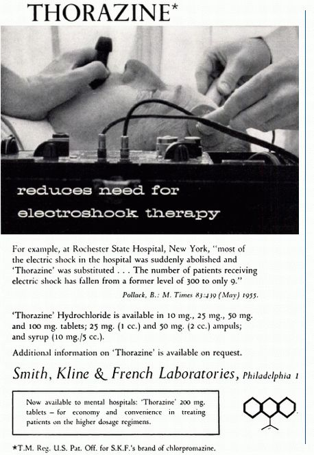 Reduce the need for electro-shock with Thorazine.