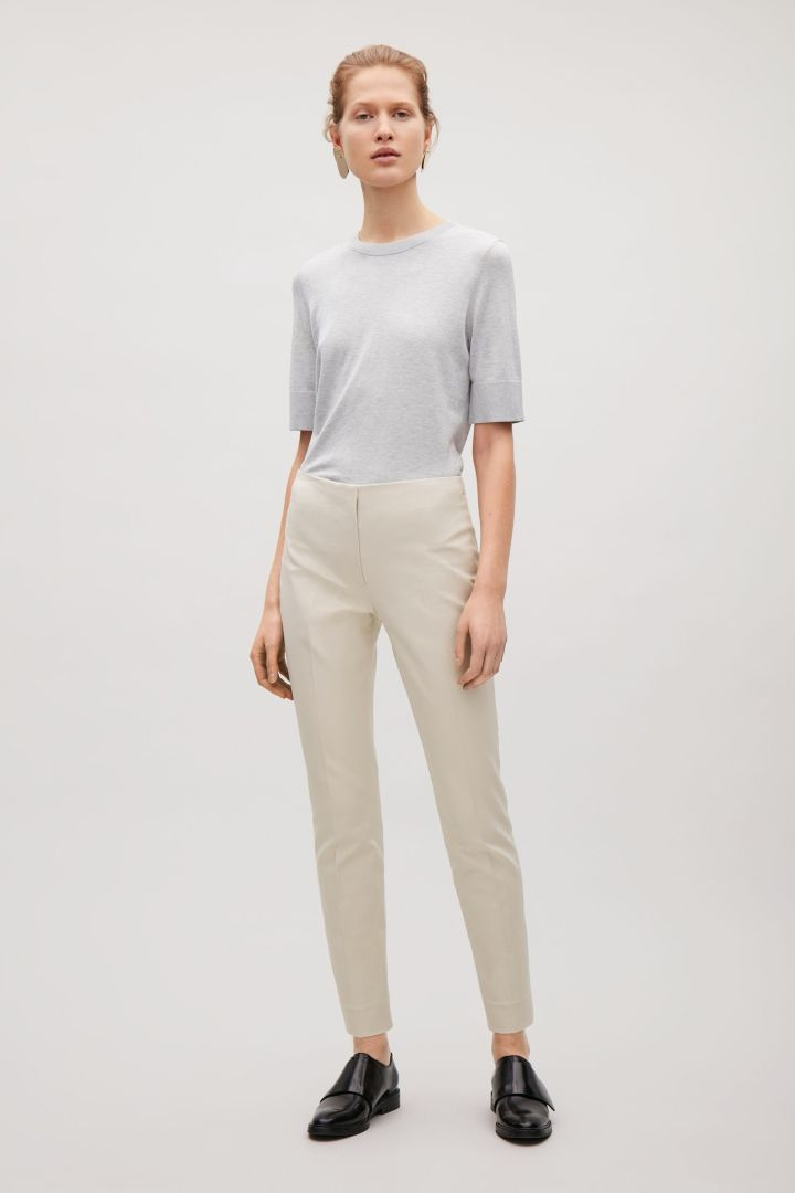 COS | Slim press fold trousers