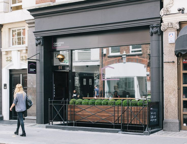 Curators coffee gallery coffee shop in fitzrovia london for Cafe exterior design