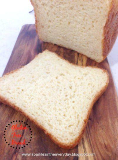 Sliced gluten free bread...made in a bread machine!!                                                                                                                                                                                 More