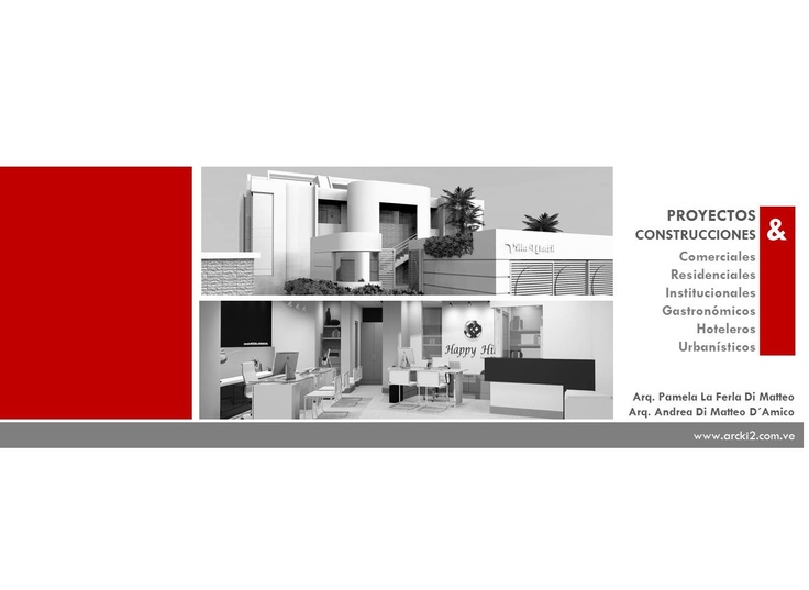 Empresa dedicada al desarrollo y diseño de proyectos de ingeniería civil, arquitectura y afines. http://www.arcki2.com.ve/