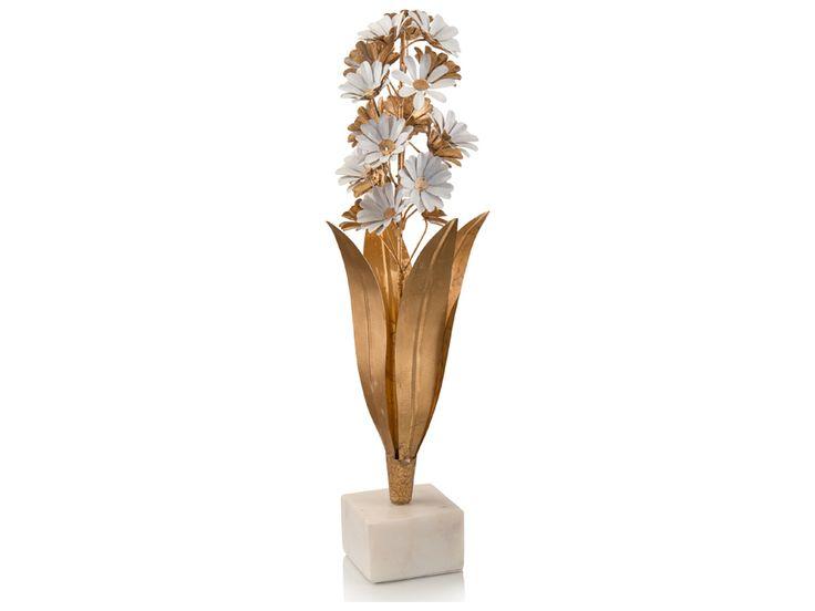 John Richard Fantasy In Gold And White Decorative Sculpture