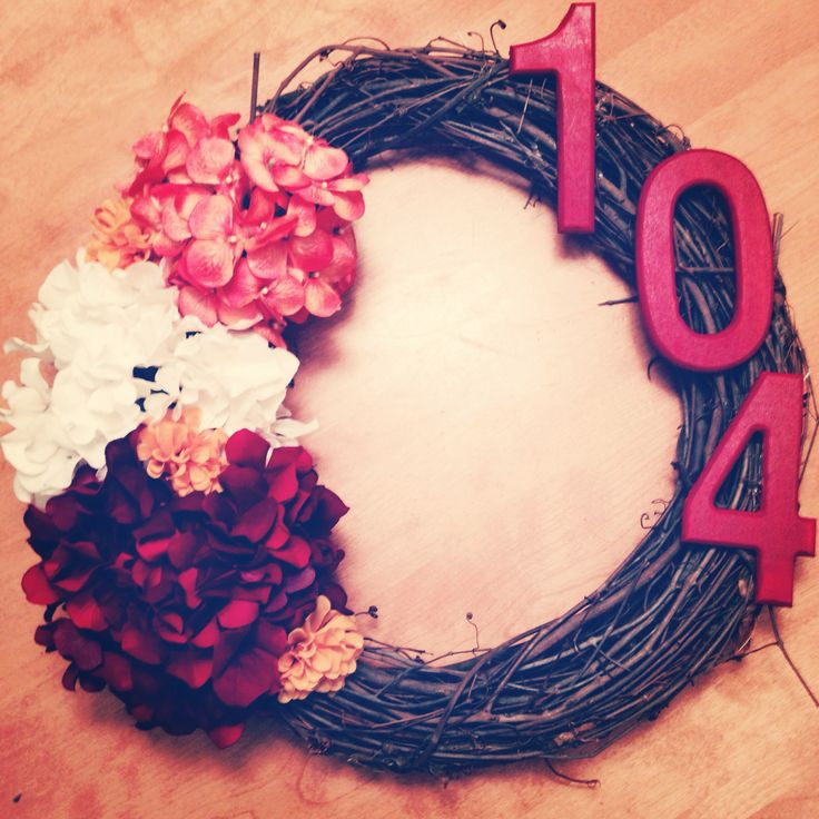 Gorgeous Fall Wreath - With your apartment number on it!  This will be on my apartment door this coming fall!