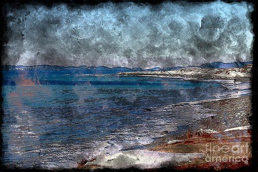Barbara Griffin - Winter Beach - Ice Blue Water - Engraving