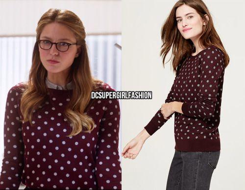 Sweater by LOFT, IDed by DCUSupergirlFashion. http://dcsupergirlfashion.tumblr.com/post/139931399351/who-melissa-benoist-as-kara-danvers-what-loft