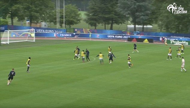 France's magnificent seven... Euro 2016 hosts thrash third division U19 side in friendly as Dimitri Payet scores stunner
