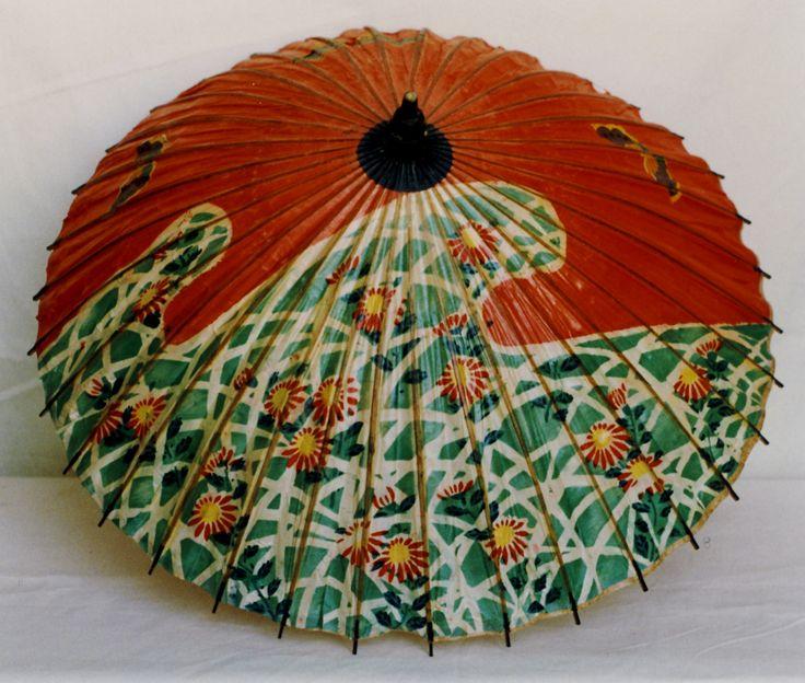 Damensonnenschirm, um 1920, Papier, Bambus © Wien Museum