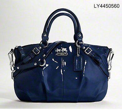 Blue Patent Coach Bag